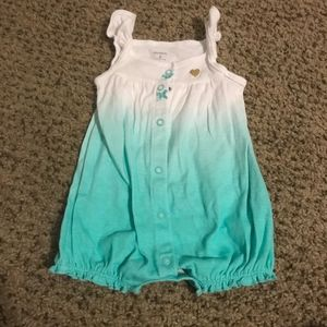 EUC Carters Baby Ombre Snap Up Romper